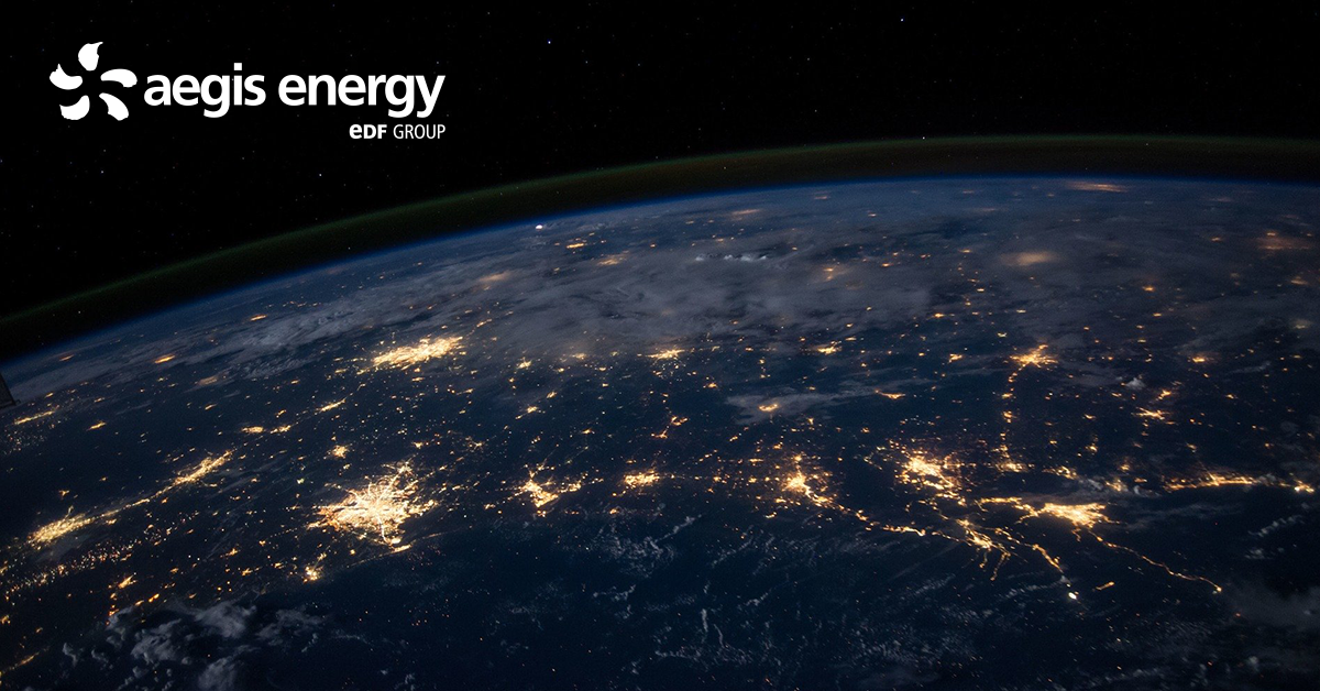 Picture of lights on Earth's surface for blog about how natural gas beats coal now in the nation's energy supply