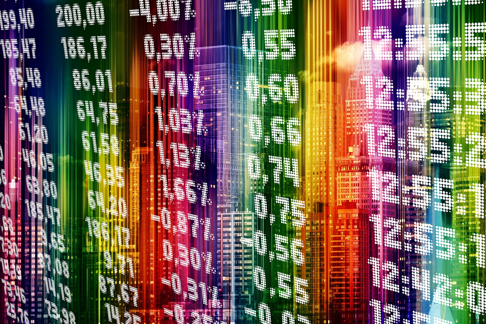 Stock exchange numbers for blog about economic recovery